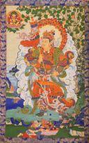 Vaishravana, unul din cei patru Protectori Dharma, tinand paza la Nord