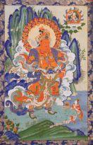 Virupaksha, unul din cei patru Protectori Dharma, tinand paza la Vest